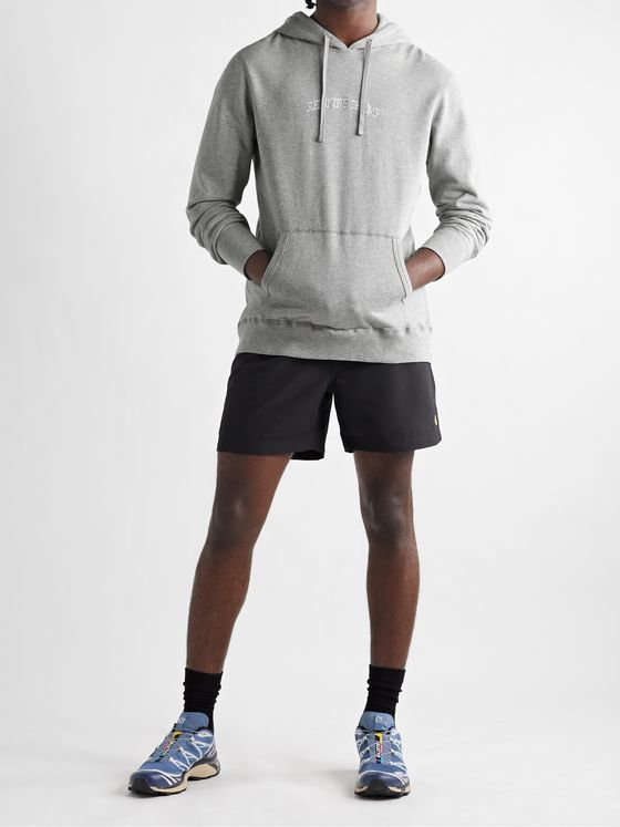 REIGNING CHAMP Slim-Fit Logo-Embroidered Loopback Pima Cotton-Jersey Hoodie