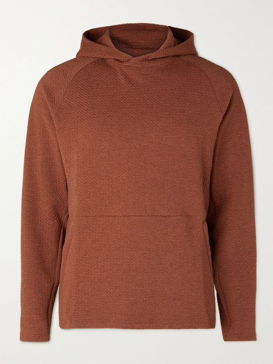 LULULEMON At Ease Textured Cotton-Blend Jersey Hoodie