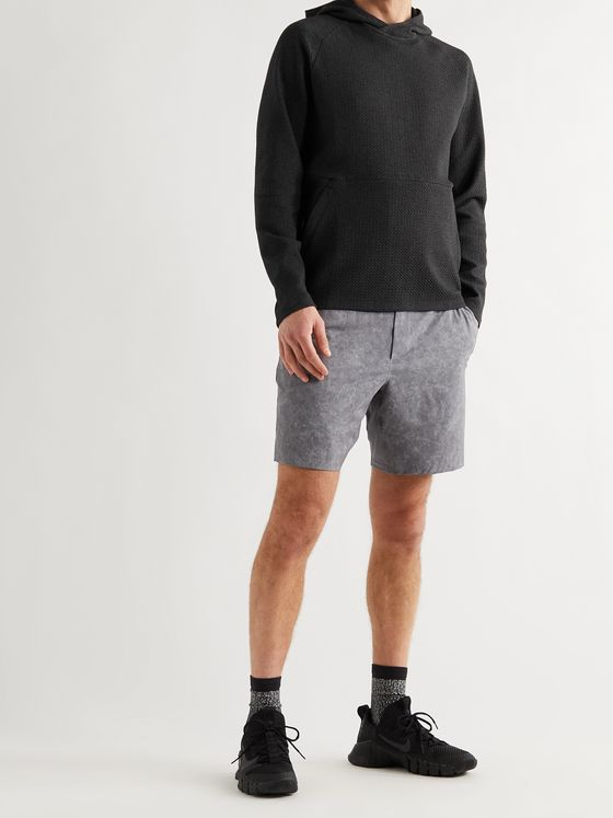 LULULEMON At Ease Waffle-Knit Cotton-Blend Hoodie