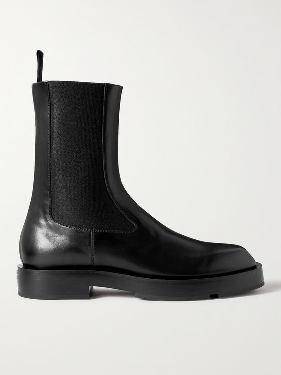 GIVENCHY Logo-Detailed Leather Chelsea Boots