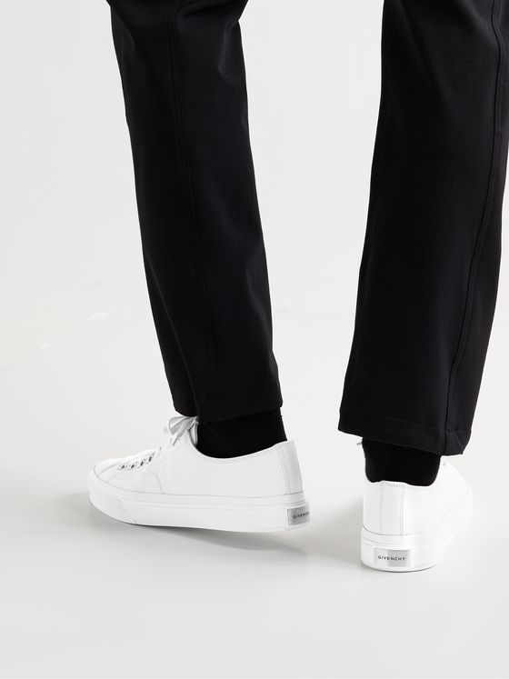GIVENCHY City Full-Grain Leather Sneakers