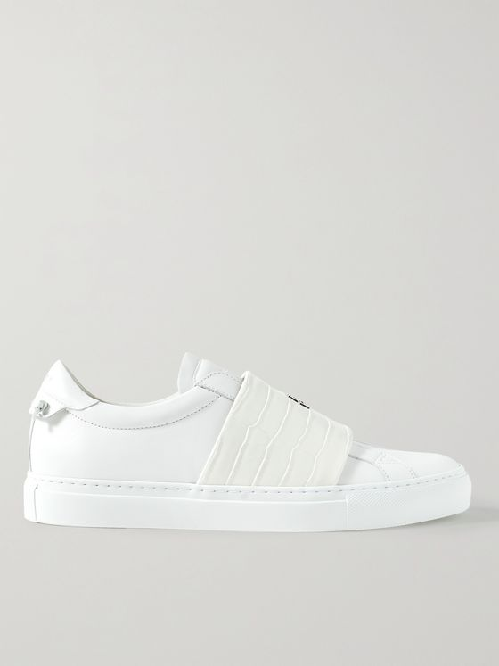 GIVENCHY Urban Street Smooth and Croc-Effect Leather Slip-On Sneakers