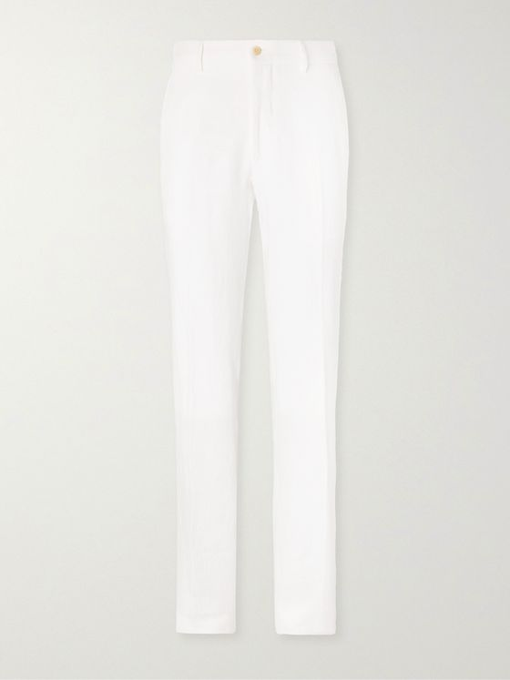 ANDERSON & SHEPPARD Linen Trousers