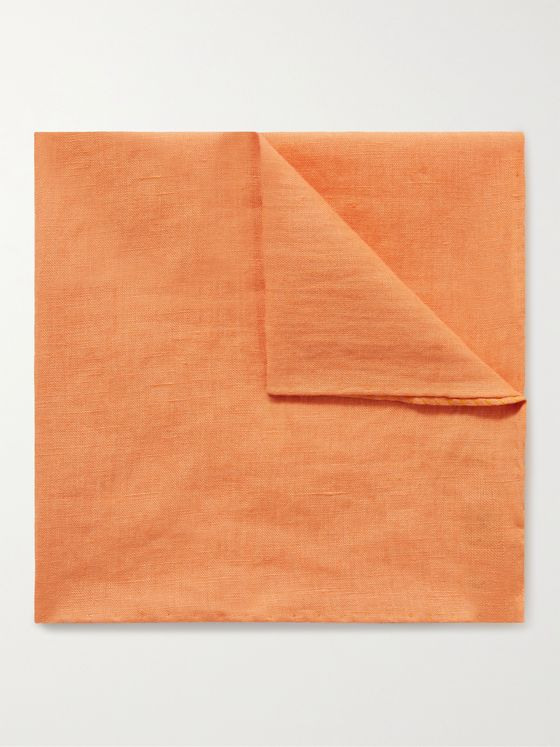 ANDERSON & SHEPPARD Linen Pocket Square