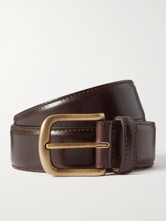 ANDERSON & SHEPPARD 3.5cm Leather Belt