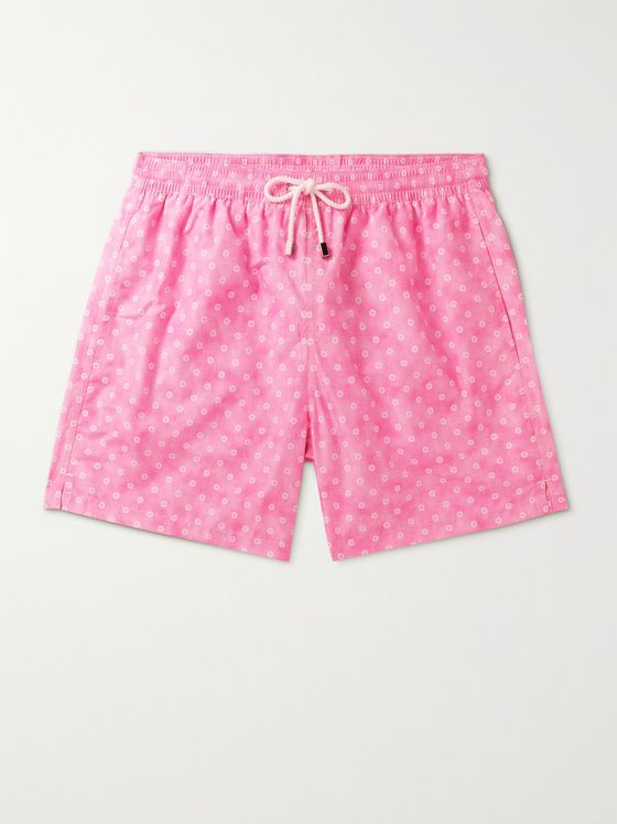 ANDERSON & SHEPPARD Mid-Length Floral-Print Swim Shorts
