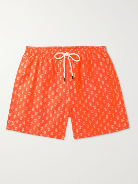 ANDERSON & SHEPPARD Mid-Length Printed Swim Shorts