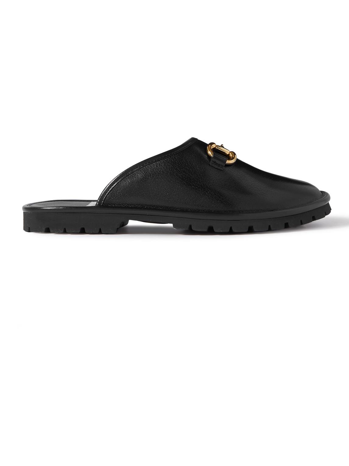 Elea Horsebit Leather Slides