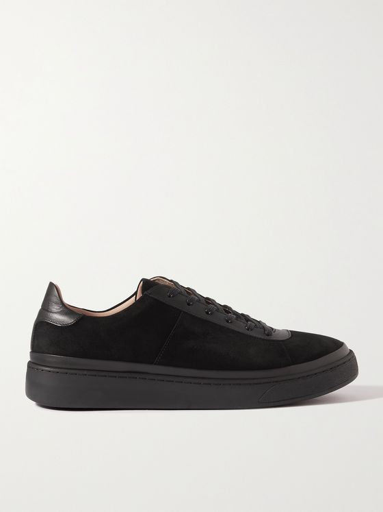 MULO Leather-Trimmed Suede Sneakers