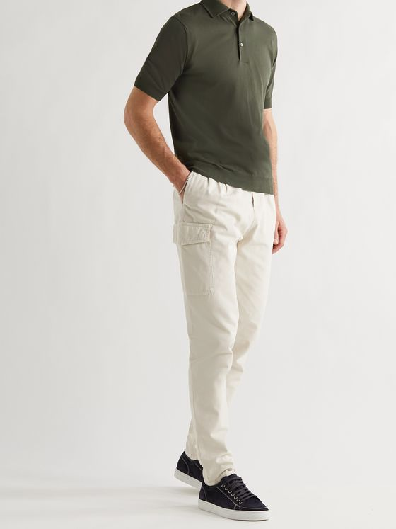 THOM SWEENEY Ice Cotton Polo Shirt