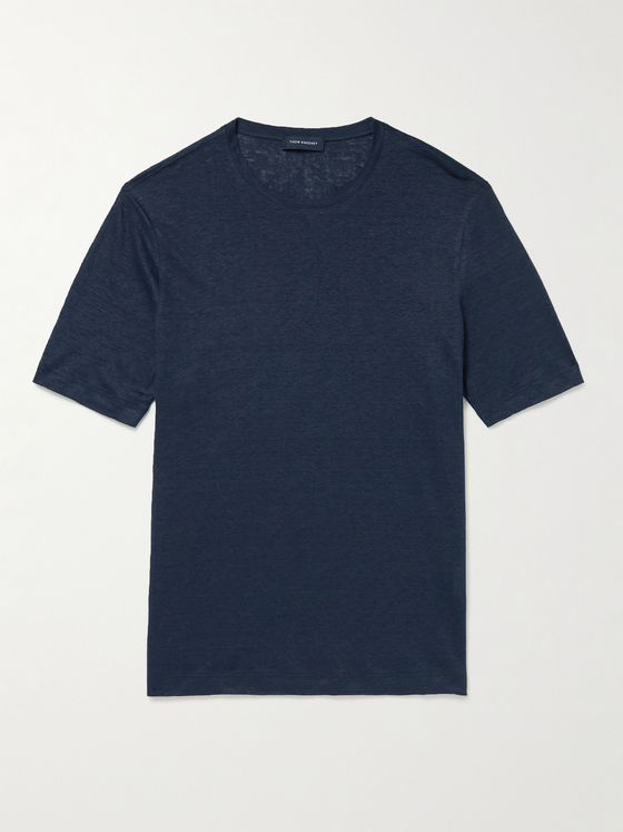 THOM SWEENEY Knitted Linen T-Shirt