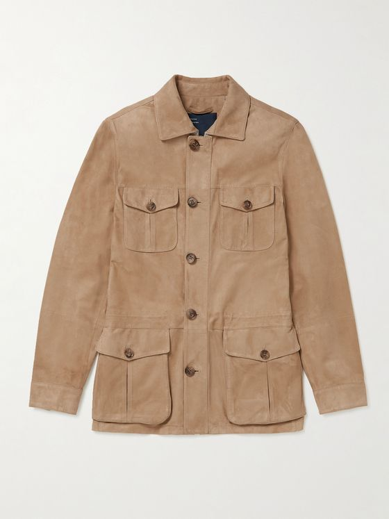 THOM SWEENEY Slim-Fit Suede Field Jacket