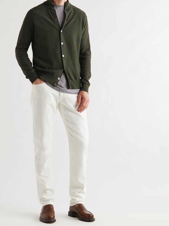 THOM SWEENEY Slim-Fit Cotton-Piqué Cardigan