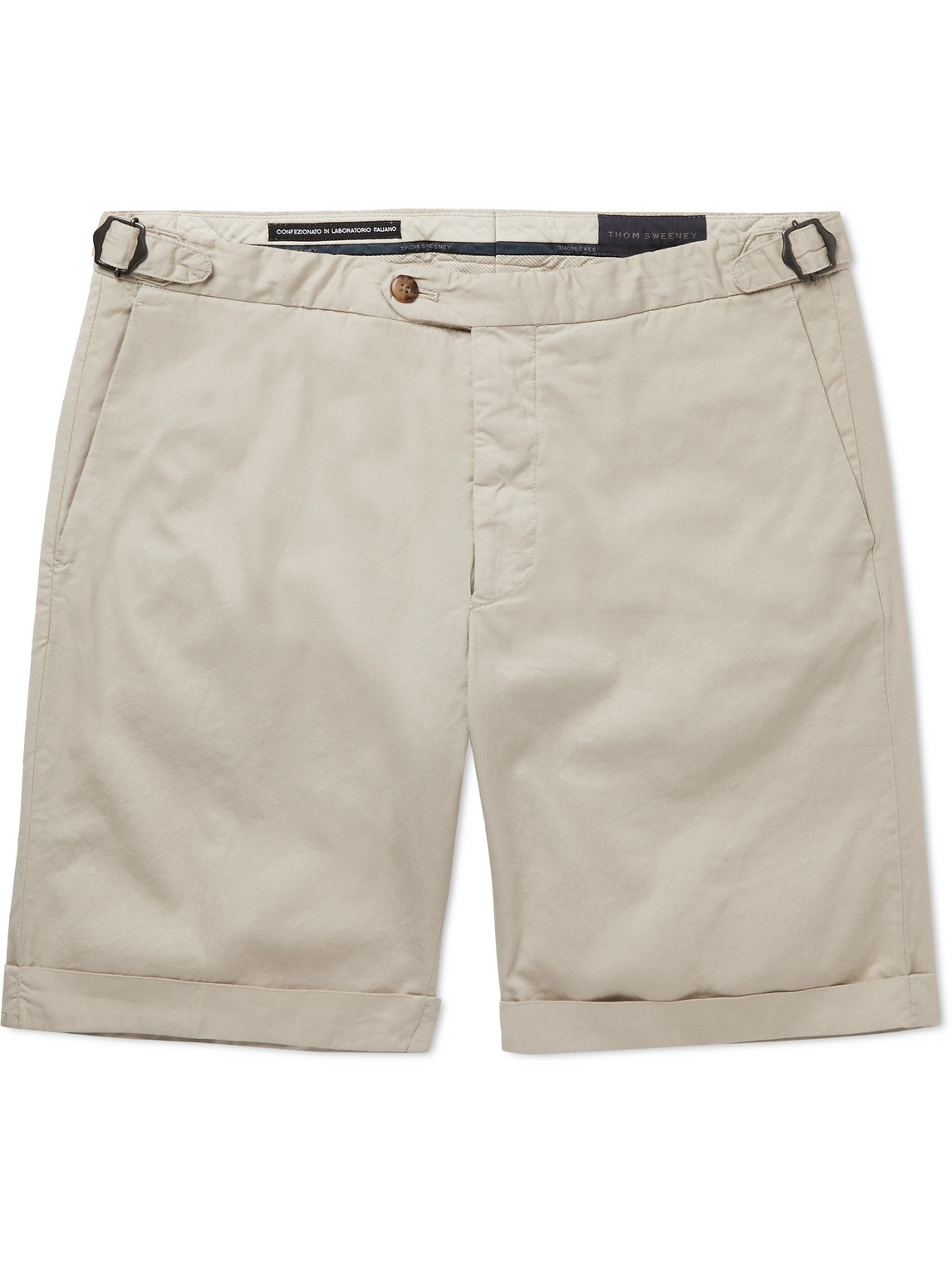 Thom Sweeney - Stretch-Cotton Twill Chino Shorts - Men - Neutrals - 46