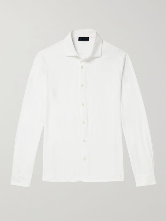 THOM SWEENEY Cotton-Jersey Shirt