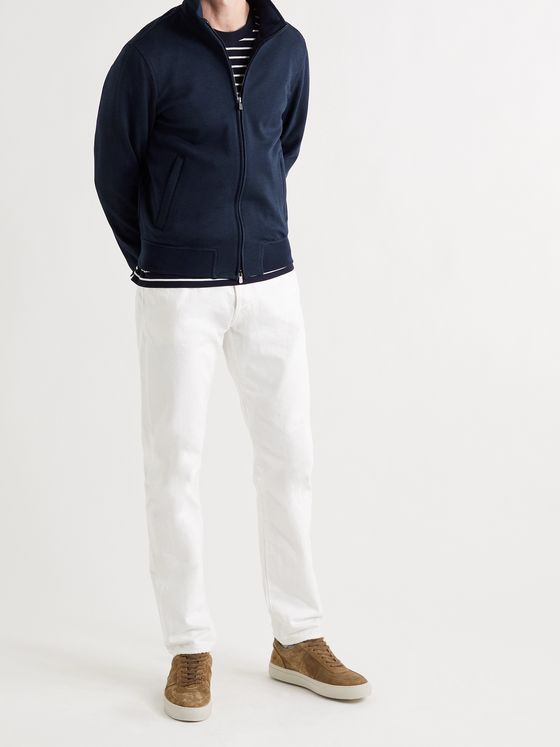 THOM SWEENEY Wool and Cotton-Blend Jersey Jacket