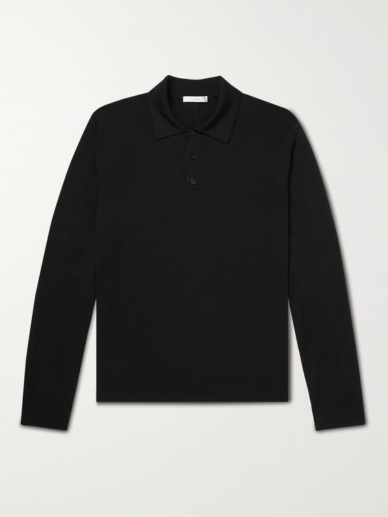 THE ROW Diego Merino Wool Polo Shirt