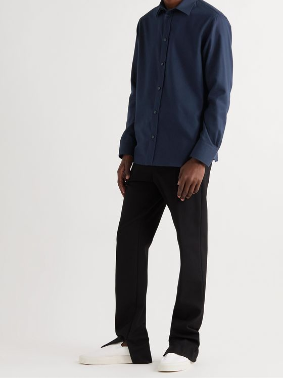 THE ROW Robin Cotton and Cashmere-Blend Shirt