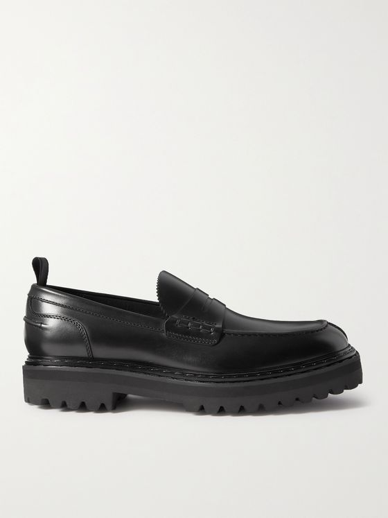 OFFICINE CREATIVE Pistols Leather Penny Loafers