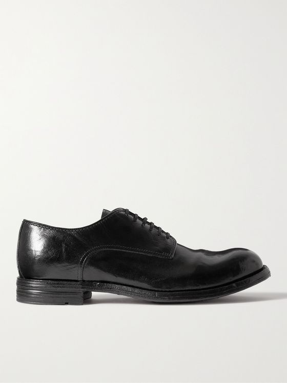 OFFICINE CREATIVE Balance Polished-Leather Derby Shoes
