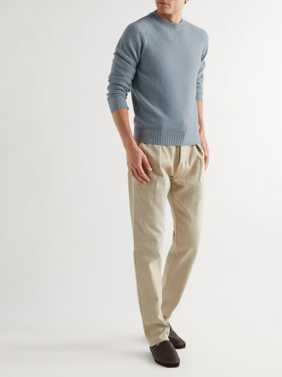 TOM FORD Slim-Fit Cashmere and Cotton-Blend Sweater