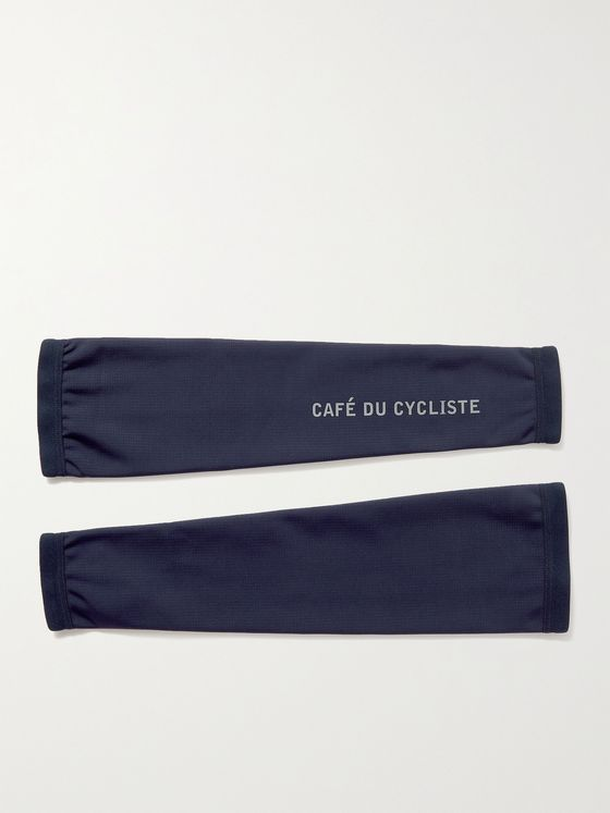 CAFE DU CYCLISTE Logo-Print Stretch-Jersey Cycling Arm Warmers