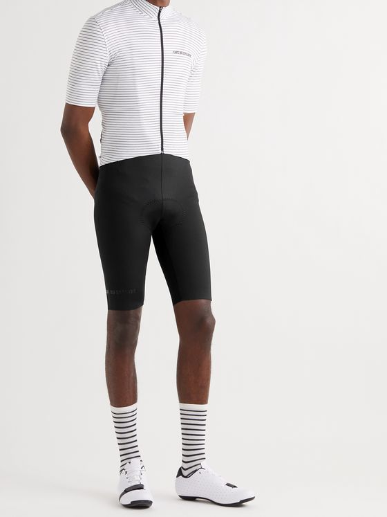 CAFE DU CYCLISTE Alice Two-Tone Stretch-Twill and Mesh Cycling Bib Shorts