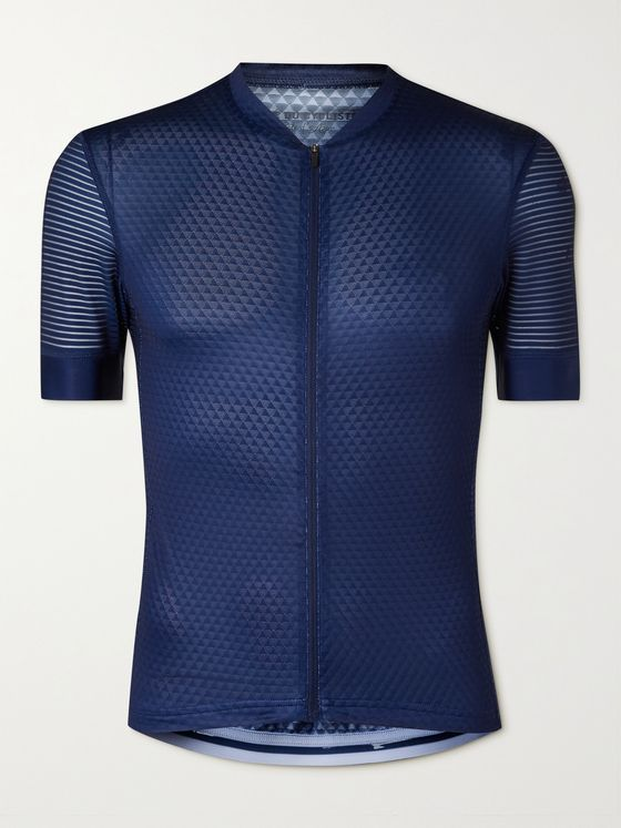 CAFE DU CYCLISTE Micheline Mesh-Panelled Cycling Jersey