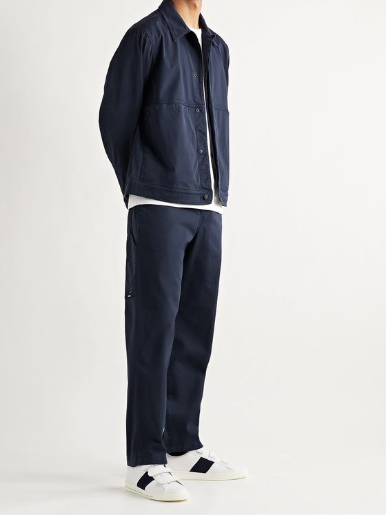 MONCLER GENIUS 5 Moncler Craig Green Garment-Dyed Stretch-Cotton Twill Chinos