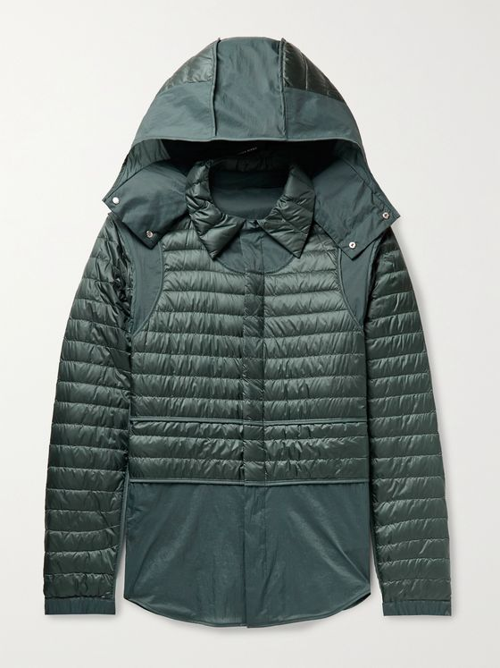 MONCLER GENIUS 5 Moncler Craig Green Chrysemys Panelled Quilted Nylon Hooded Down Jacket