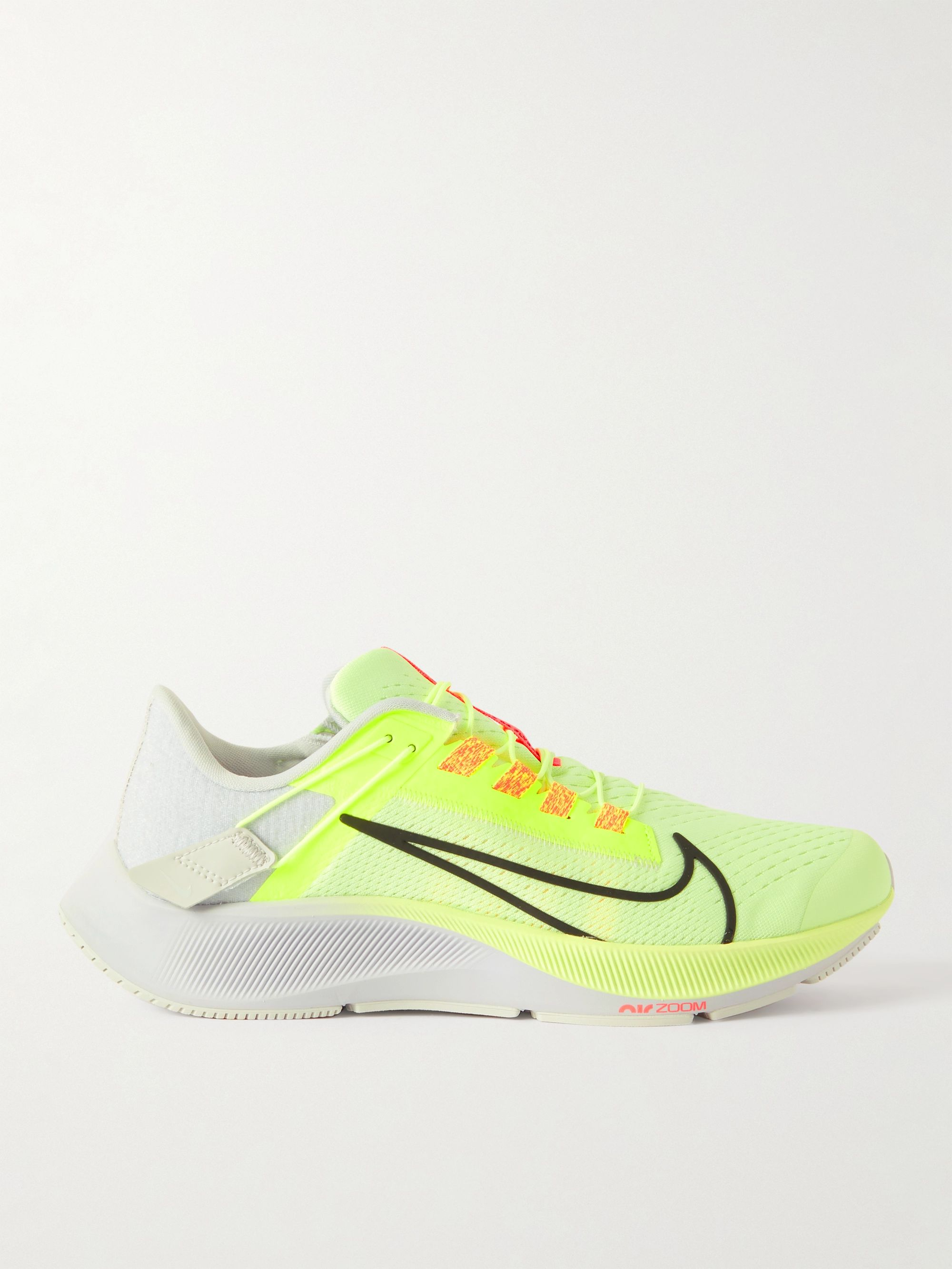 Yellow Nike Air Zoom Pegasus 38 FlyEase Leather-Trimmed Mesh ...