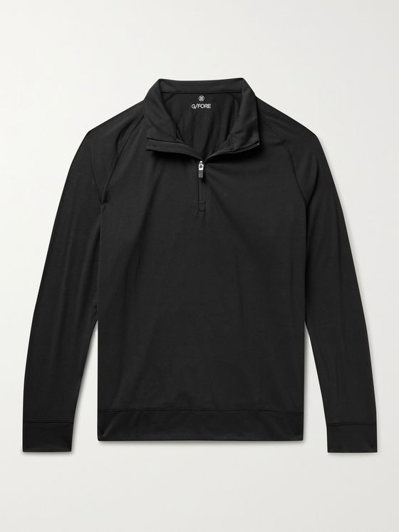 G/FORE Luxe Staple Mid Tech-Jersey Half-Zip Golf Top
