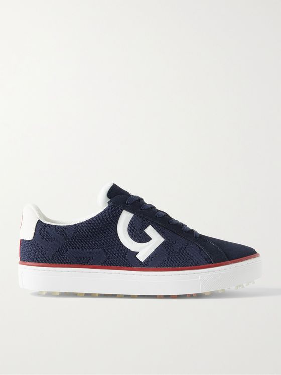 G/FORE Disruptor Suede-Trimmed Knitted Golf Shoes