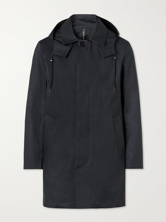 MACKINTOSH Cambridge Bonded Cotton Hooded Trench Coat