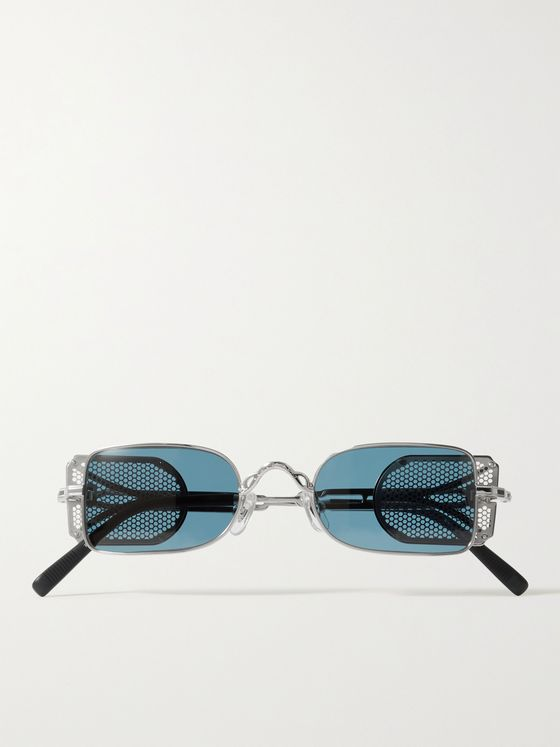 MATSUDA Rectangle-Frame Titanium Sunglasses