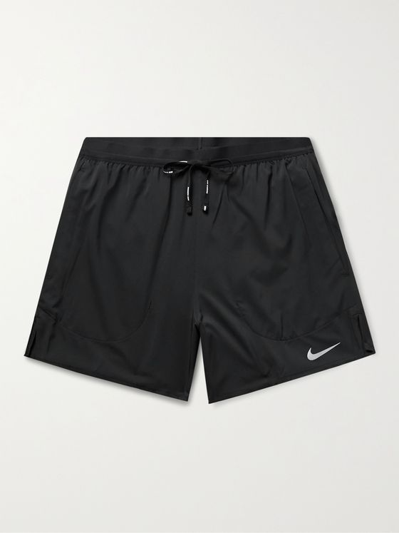 NIKE RUNNING Stride Ripstop-Panelled Flex Dri-FIT Shorts