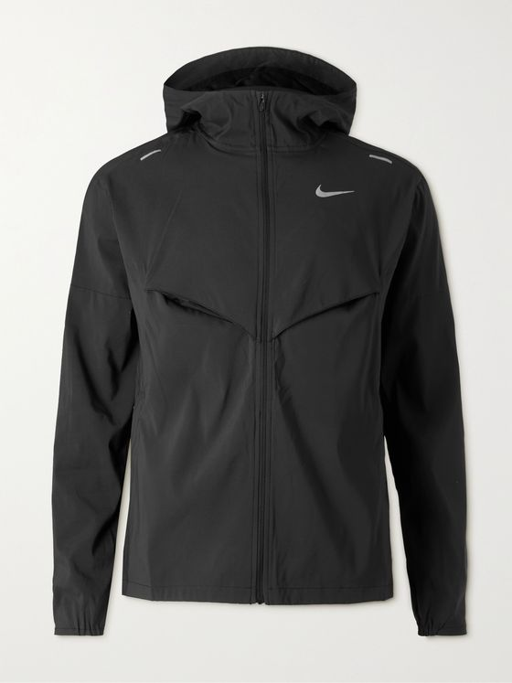 NIKE RUNNING Packable Windrunner Stretch-Shell Hooded Jacket