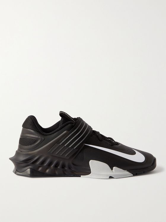 NIKE TRAINING Savaleos Rubber-Trimmed Coated-Mesh Sneakers