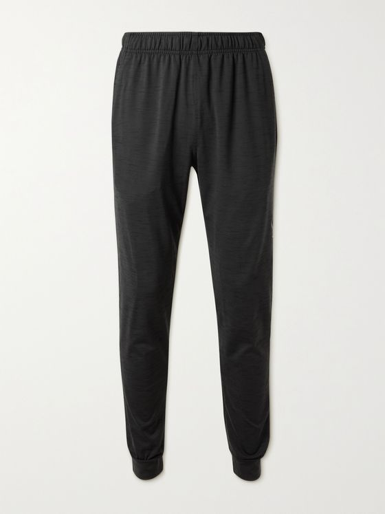 NIKE TRAINING Tapered Mélange Dri-FIT Stretch-Jersey Yoga Sweatpants