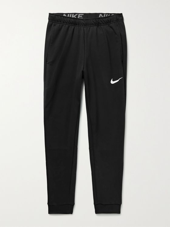 NIKE TRAINING Tapered Dri-Fit Loopback Cotton-Blend Jersey Sweatpants