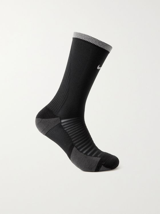 NIKE RUNNING Spark Cushioned Crew Stretch-Knit Socks