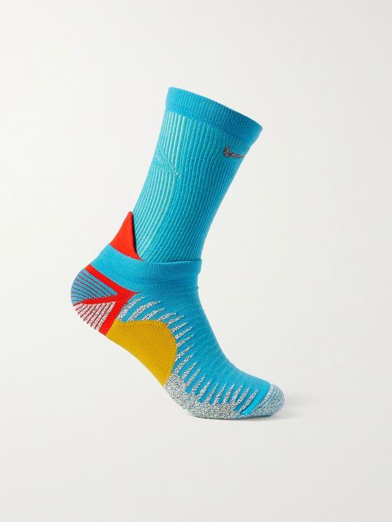 NIKE RUNNING Trail Colour-Block Stretch-Knit Socks