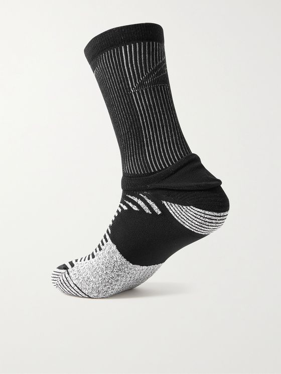 NIKE RUNNING Trail Ribbed Stretch-Knit Socks