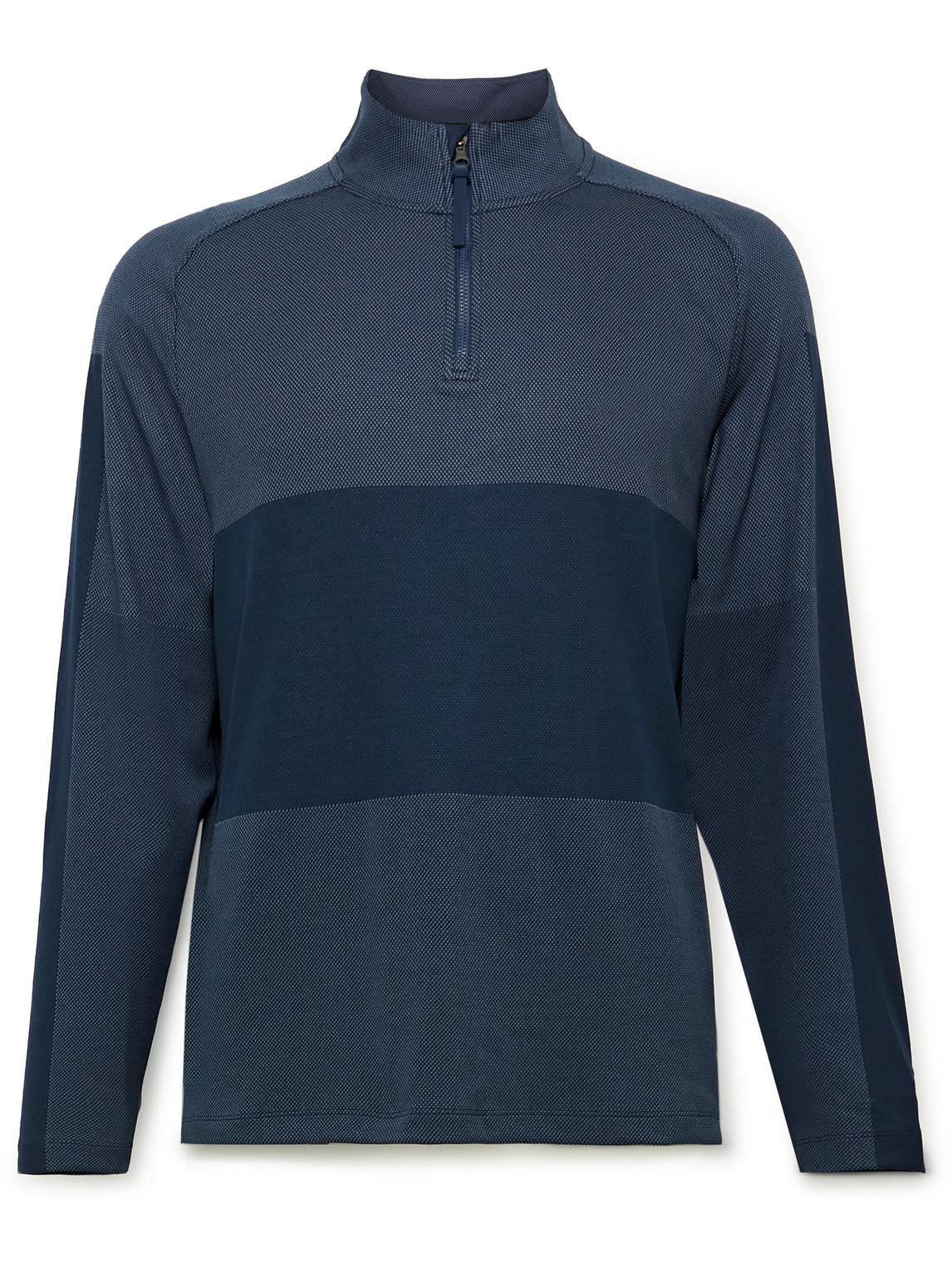 Nike Golf - Vapor Striped Dri-Fit Half-Zip Golf Top - Men - Blue - S