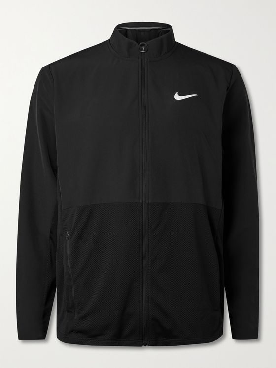 NIKE TENNIS NikeCourt HyperAdapt Advantage Mesh-Panelled Shell Tennis Jacket