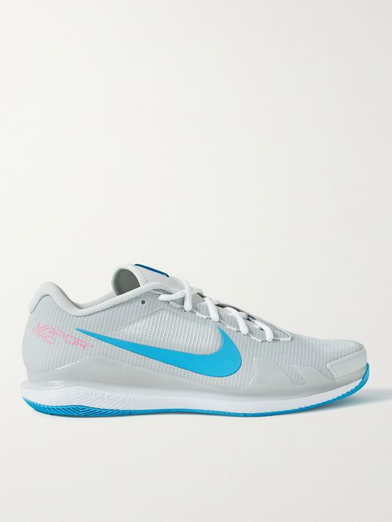 NIKE TENNIS NikeCourt Air Zoom Vapor Pro Rubber-Trimmed Mesh Sneakers