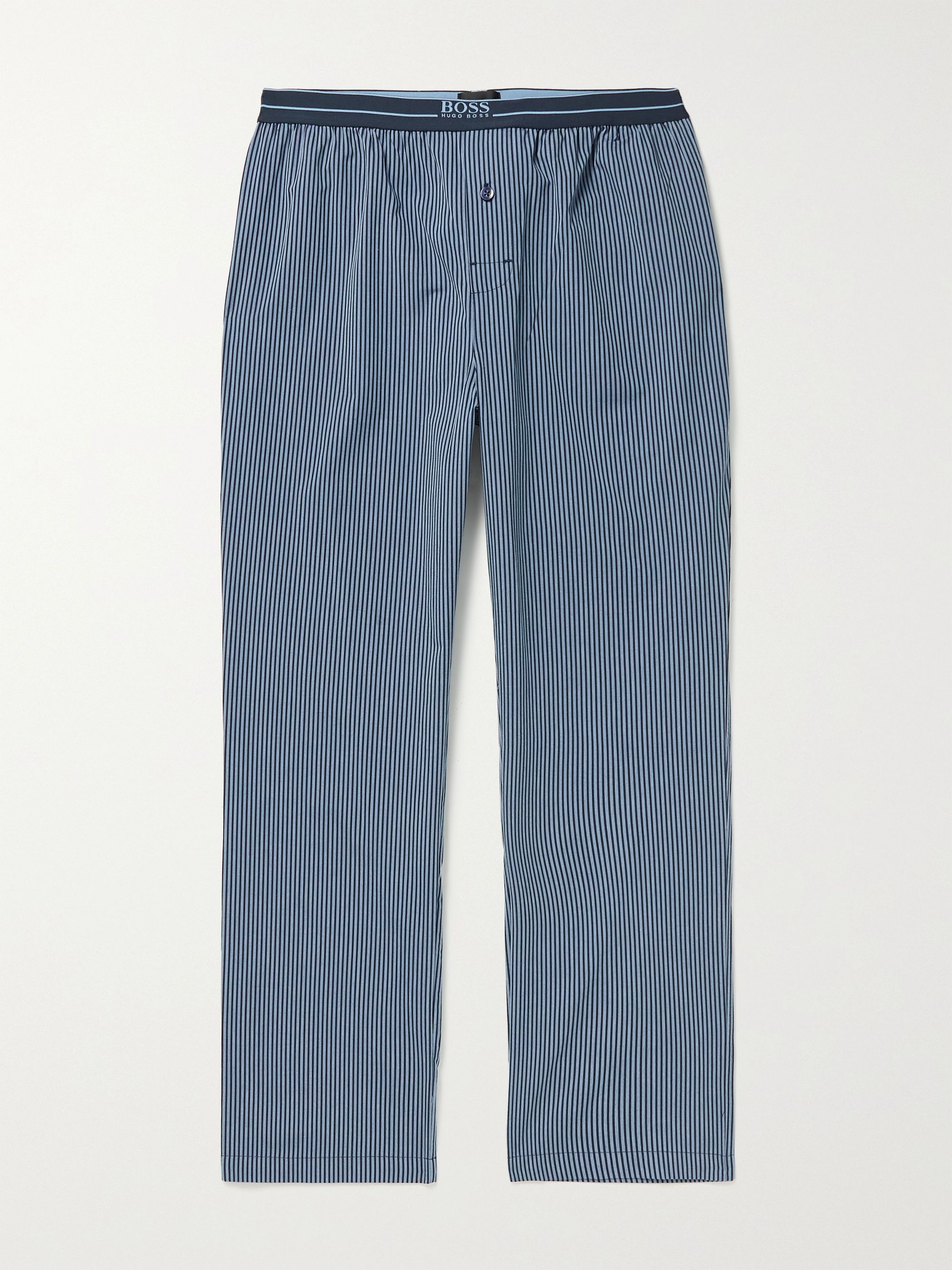 HUGO BOSS Striped Cotton-Poplin Pyjama Trousers