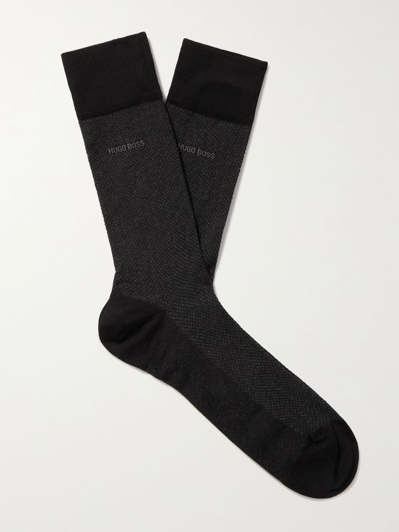 HUGO BOSS Stretch Cotton-Blend Socks