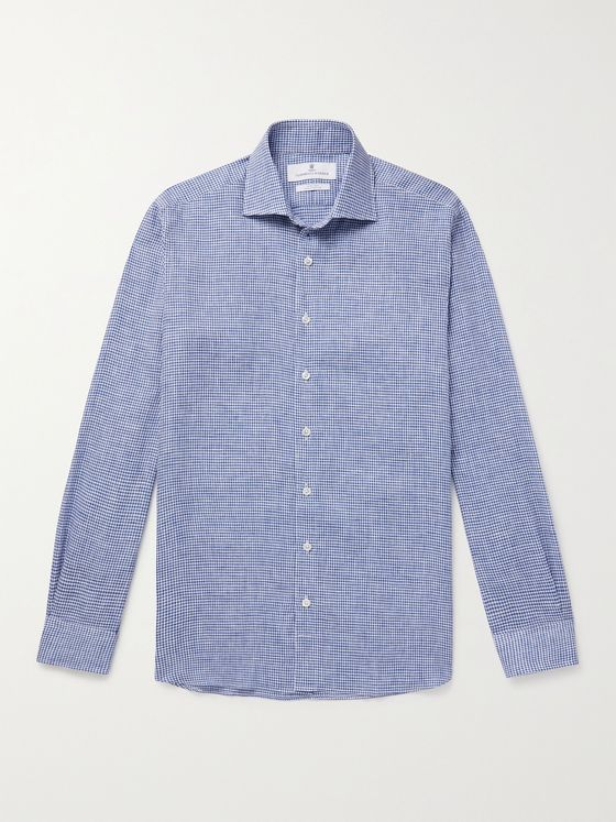 TURNBULL & ASSER Checked Linen Shirt