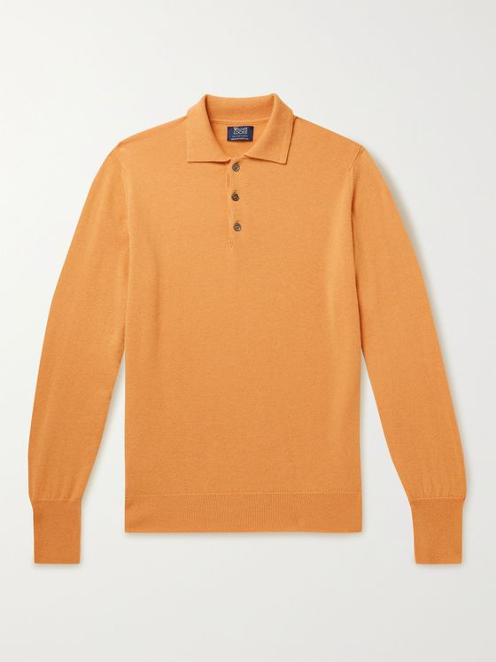 WILLIAM LOCKIE Oxton Cashmere Polo Shirt
